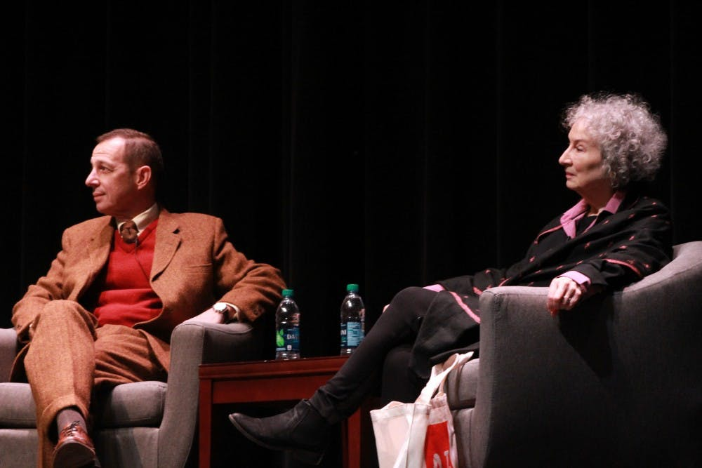 Margaret Atwood addresses packed Bama Theater
