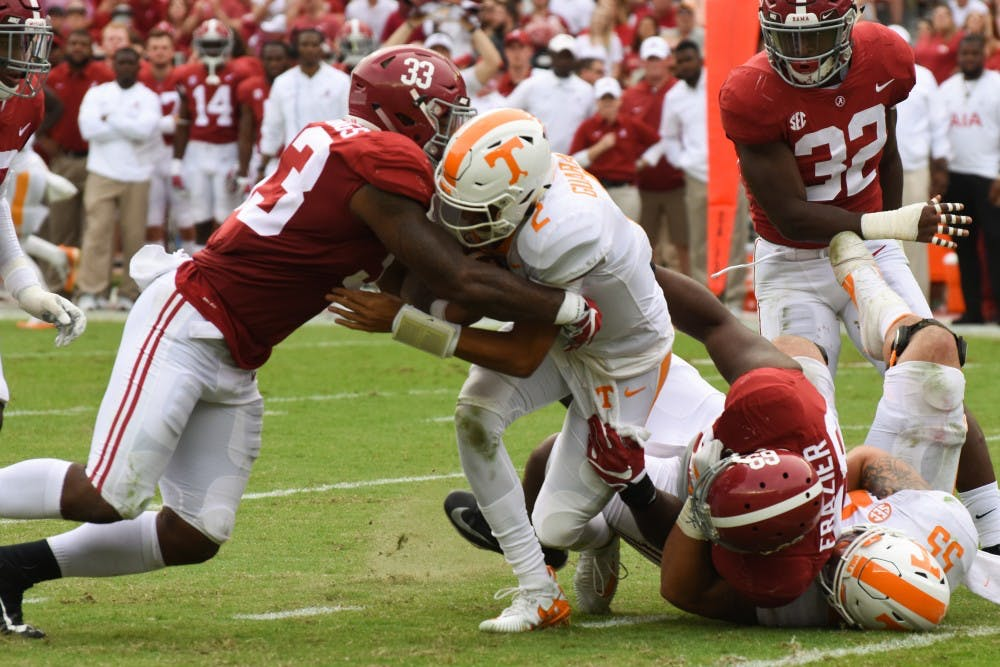 Pressure is key in Alabama defense's dominating performance against Tennessee