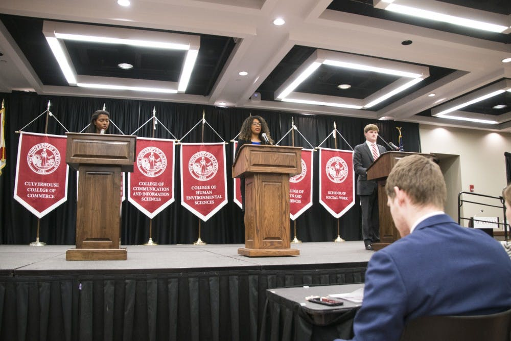 SGA presidential candidates debate how to make the best campus