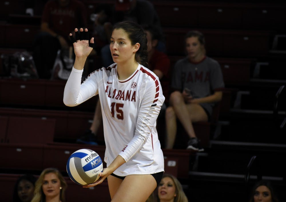 Leah Lawrence nears Alabama career block record