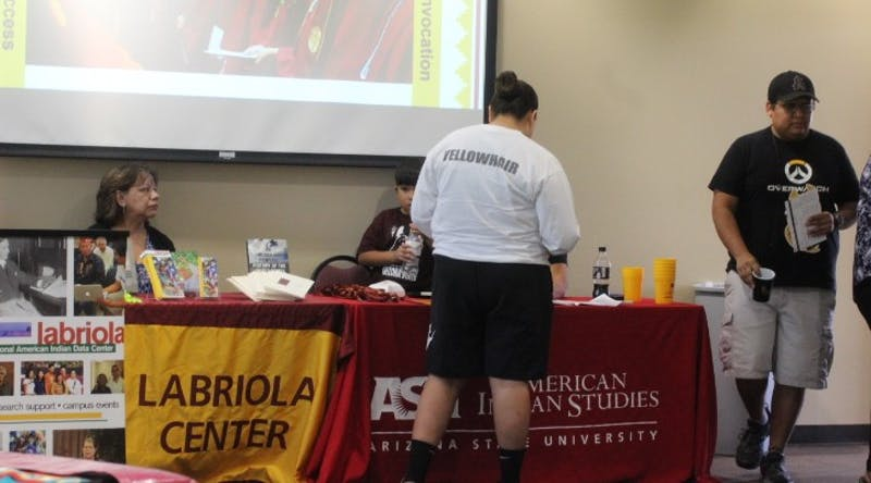 Video: Native American students connect during ASU resource fair