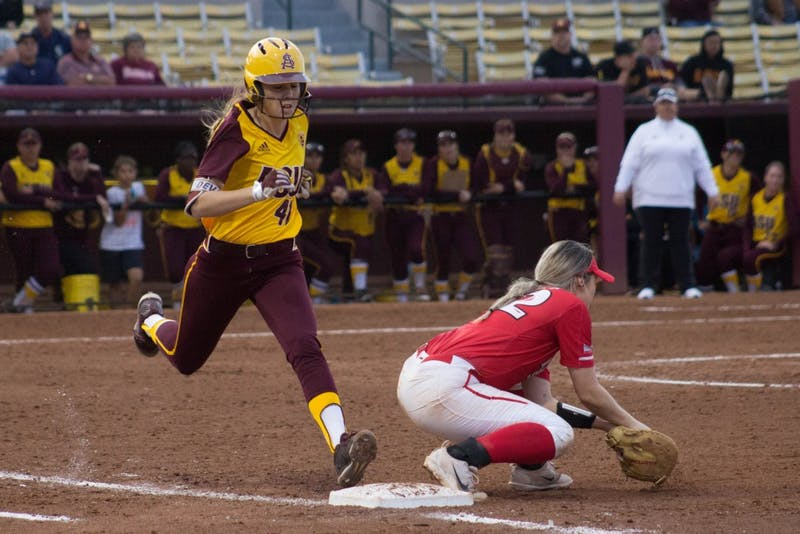 Danielle Gibson Runs to First Base