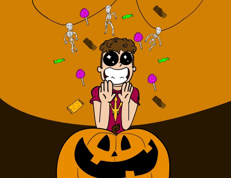 Halloween Contract Drawing