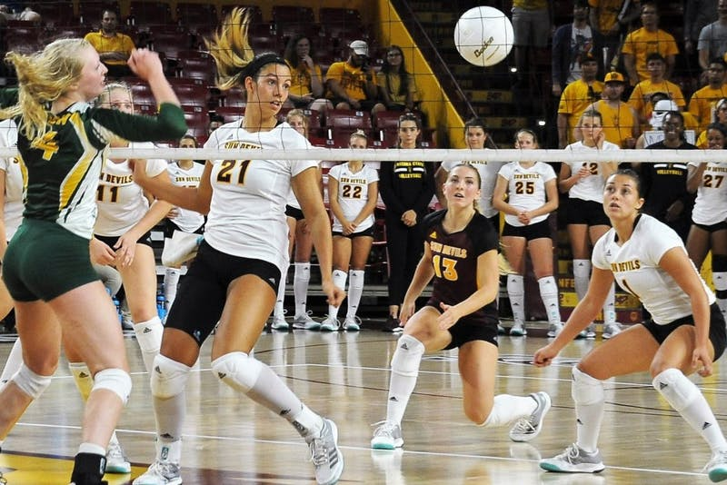 ASU volleyball's Halle Harker moves to third in career digs in program history