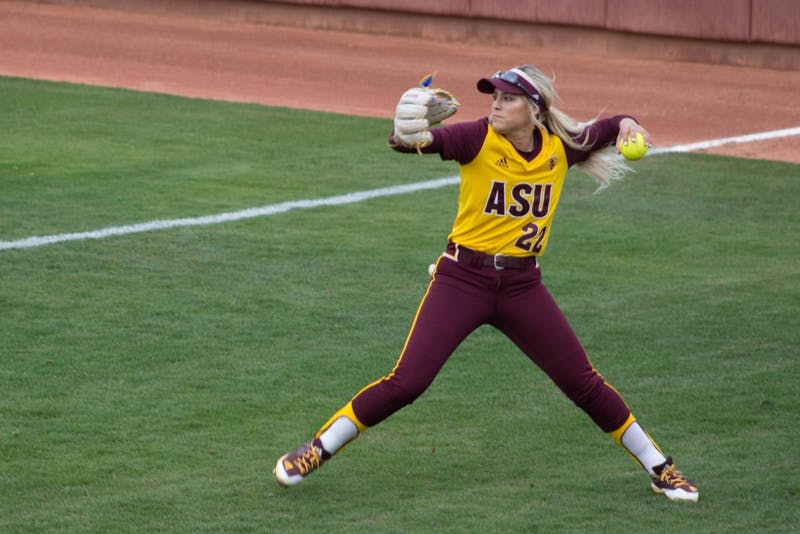 ASU softball extends win streak to nine with 7-0 win over San Diego
