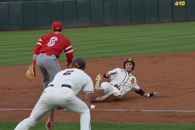 Gage Canning Slides Into Third Base