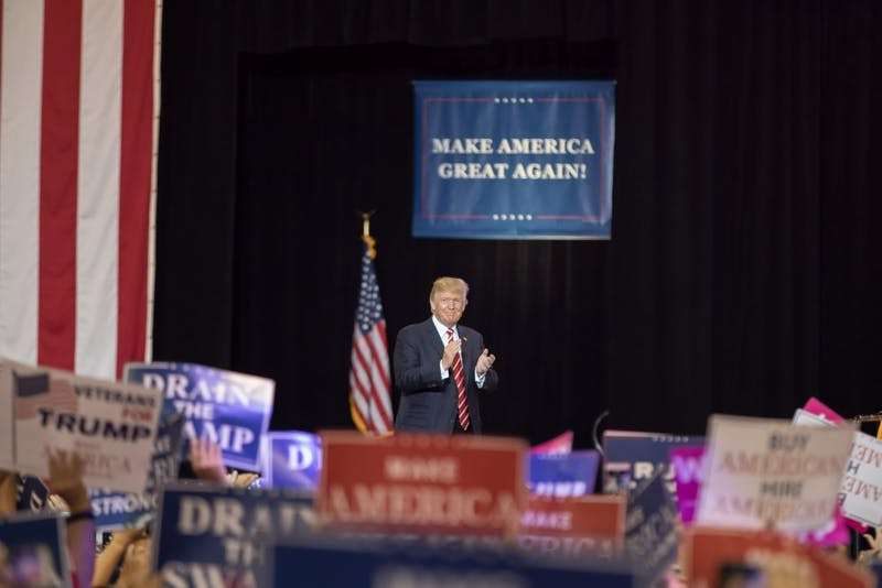 Trump rally draws mixed reviews among ASU students