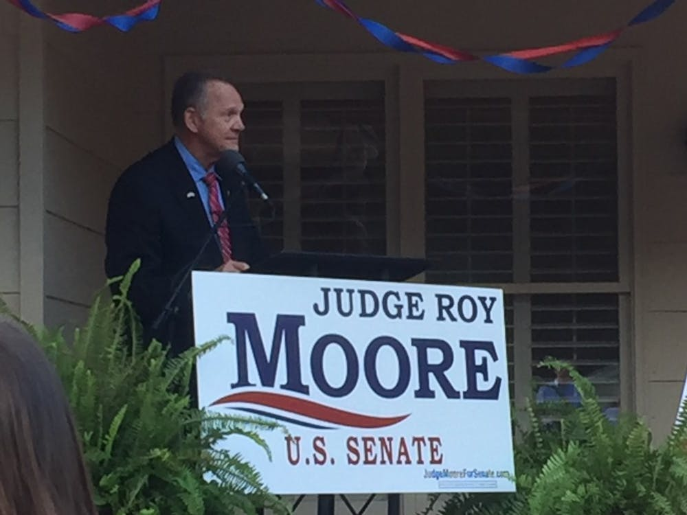 Former Chief Justice Roy Moore campaigns for U.S. Senate in Auburn