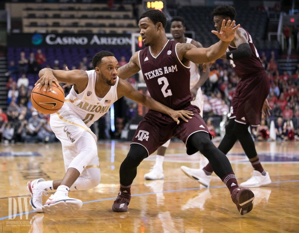 Aggies drop first game of the season to Arizona, 67-64