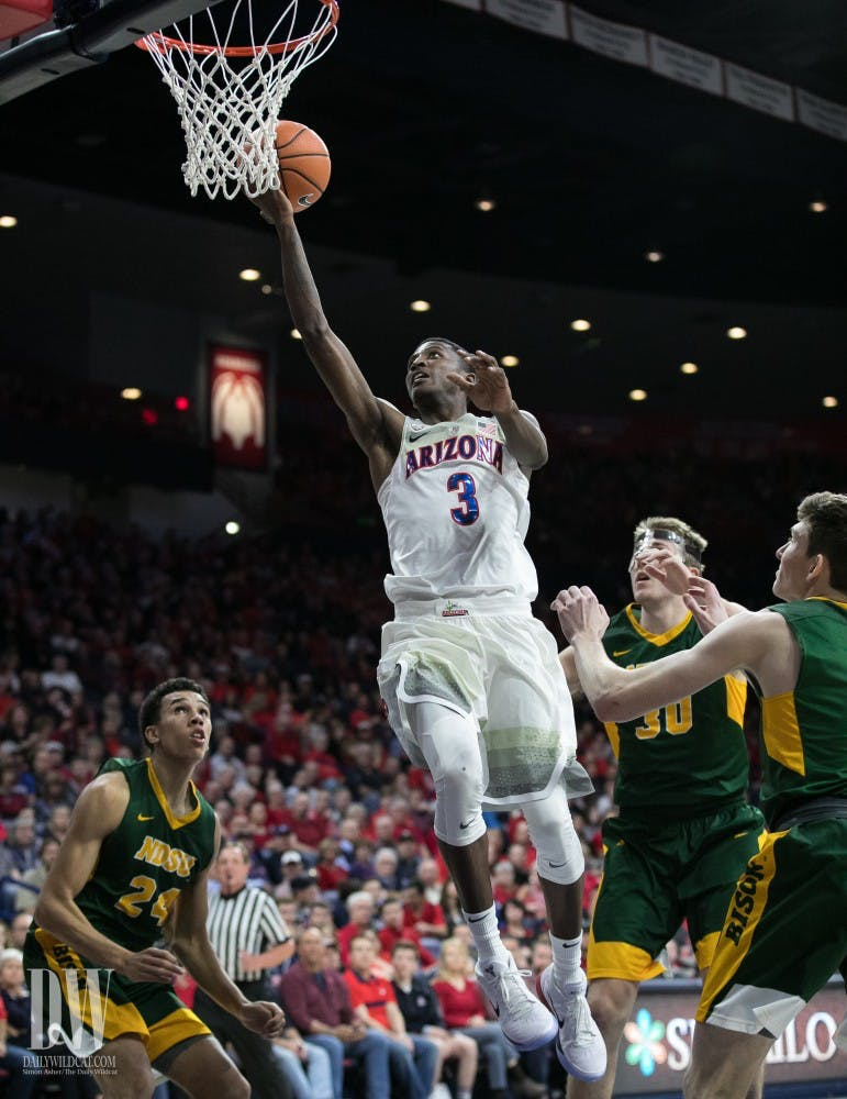No. 18 Arizona Too Much for North Dakota State