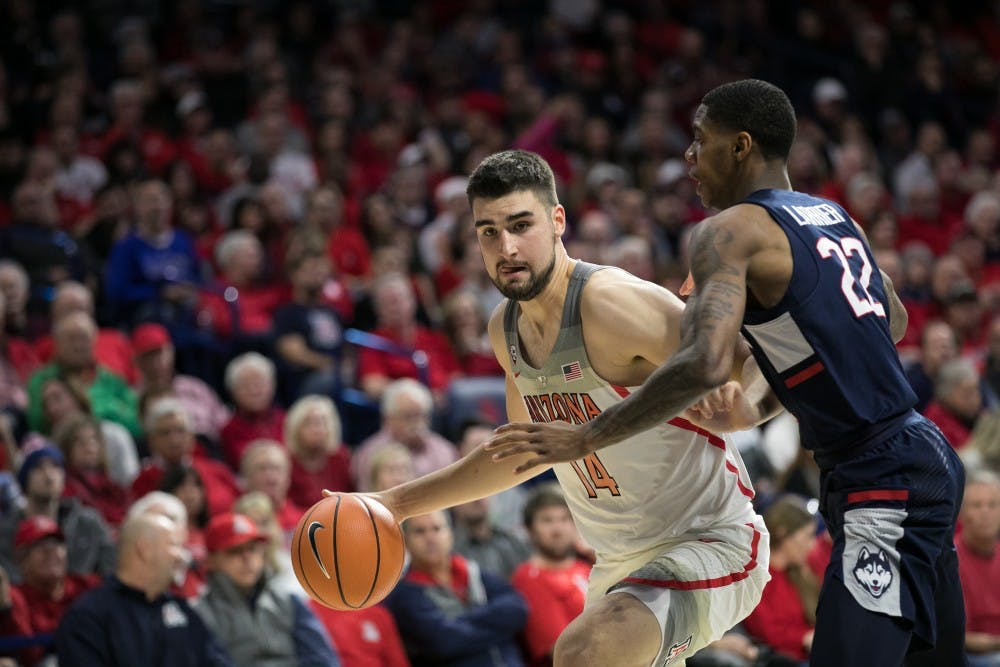 UConn falls to No. 18 Arizona 73-58
