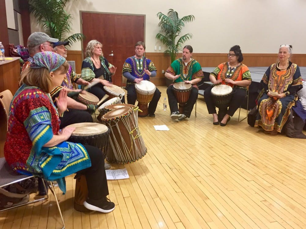 The Shamaniacs Drummers performed during a Kwanza celebration at the L.A. Pittenger Student Center Tuesday, Dec. 5. Liz Rieth, DN Photo