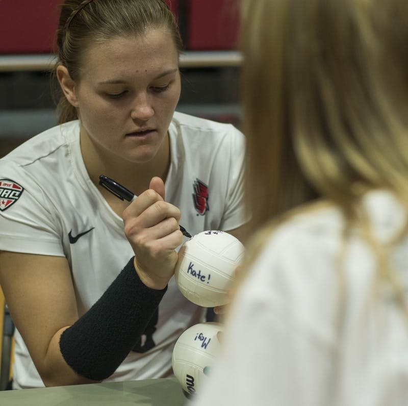 Ball State defeats Eastern Michigan in five sets
