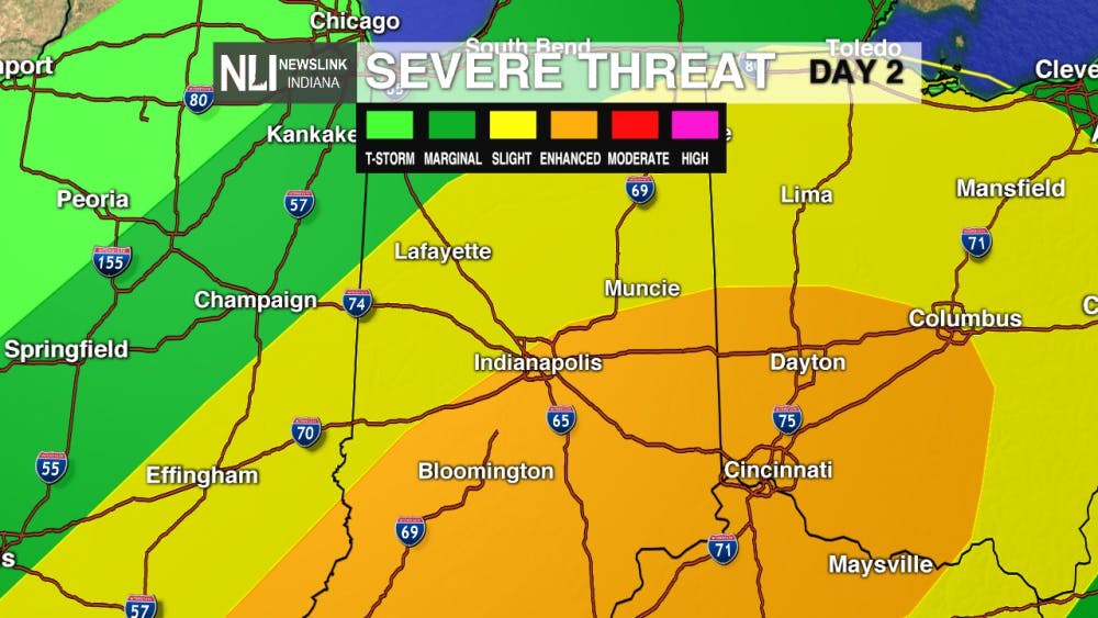 Severe thunderstorms possible for Tuesday