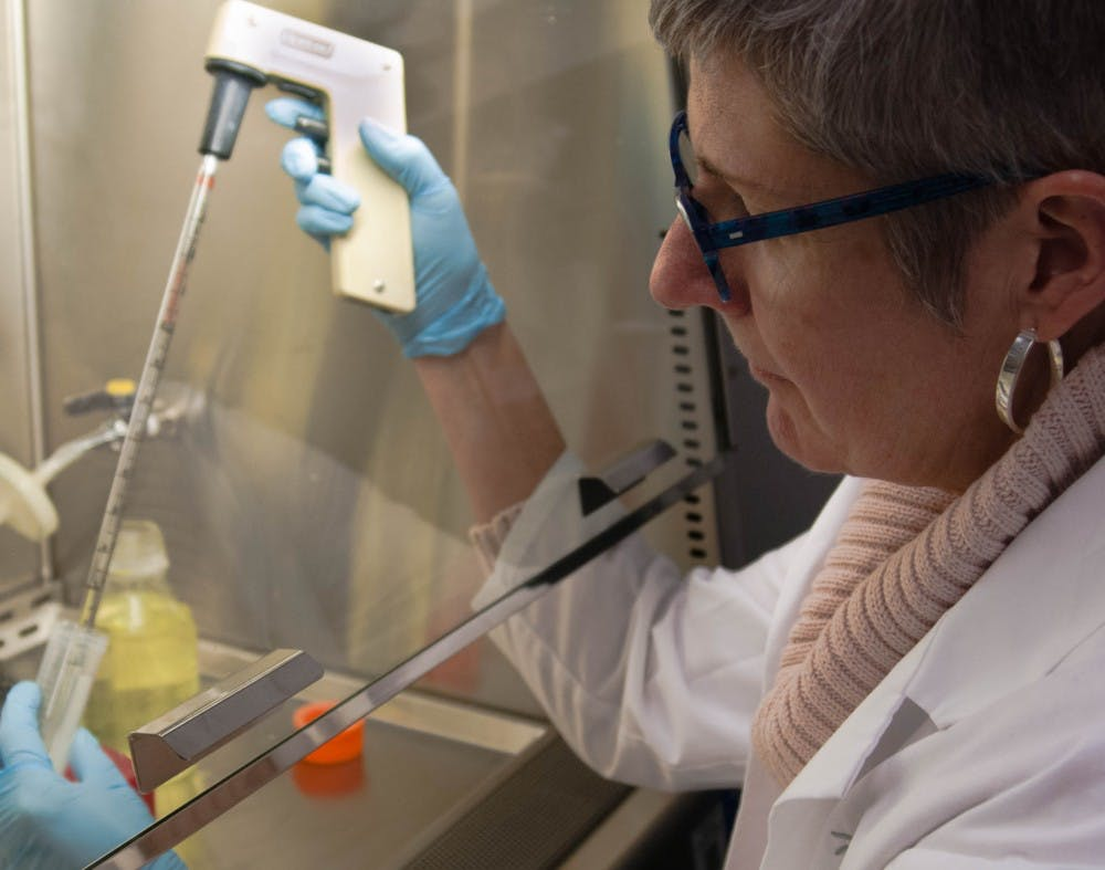 Doctor Susan McDowell is a biology professor at Ball State University that leads Ball State students in research. The research is centered around the use of alternative medications to antibiotics that treat bacterial infections. Madeline Grosh, DN