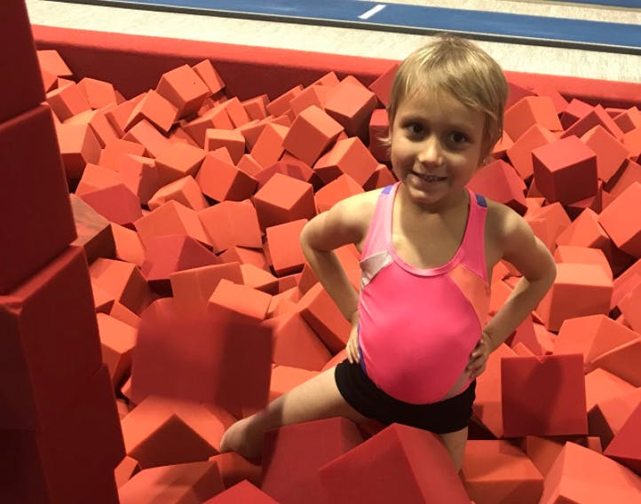 Halleigh Lynn Chitwood was diagnosed with Leukemia in October 2016. She has been a honorary member of the Ball State gymnastics team for the past two months. Ball State Gymnastics, Photo Provided