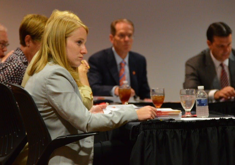 Ball State's student trustee Marlee Jacocks attended her first Board of Trustees meeting in August. Allie Kirkman, DN