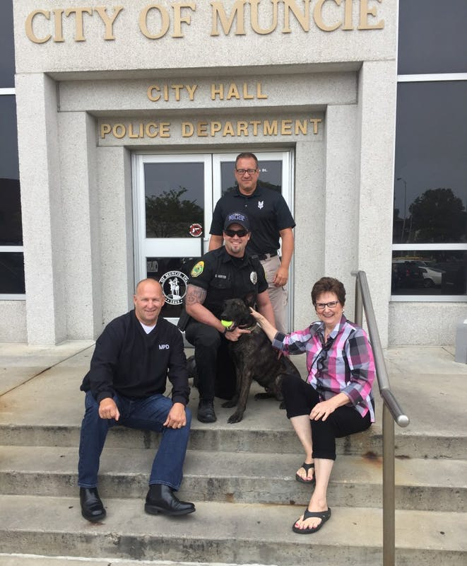 Indianapolis local donates K-9 to Muncie Police Department