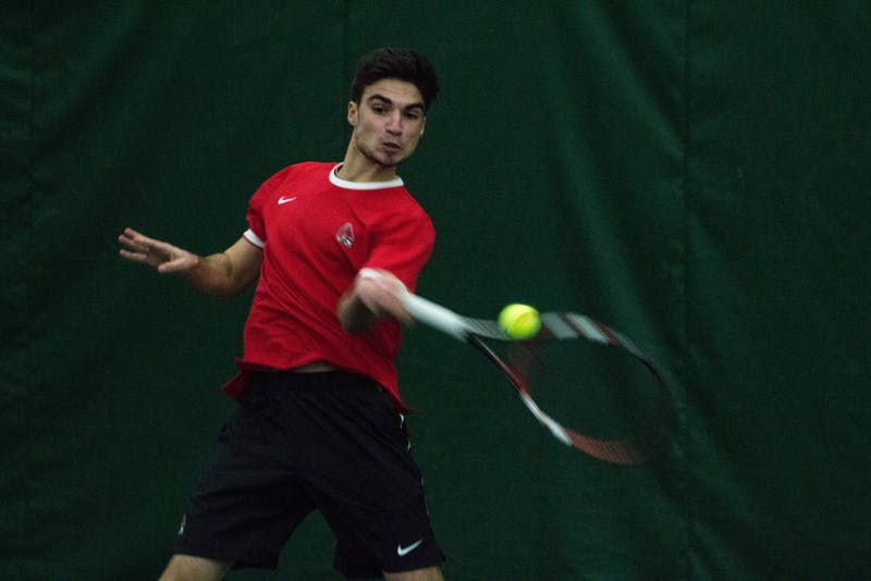Ball State men's tennis closes out fall season with three top finishers at MAC indoor