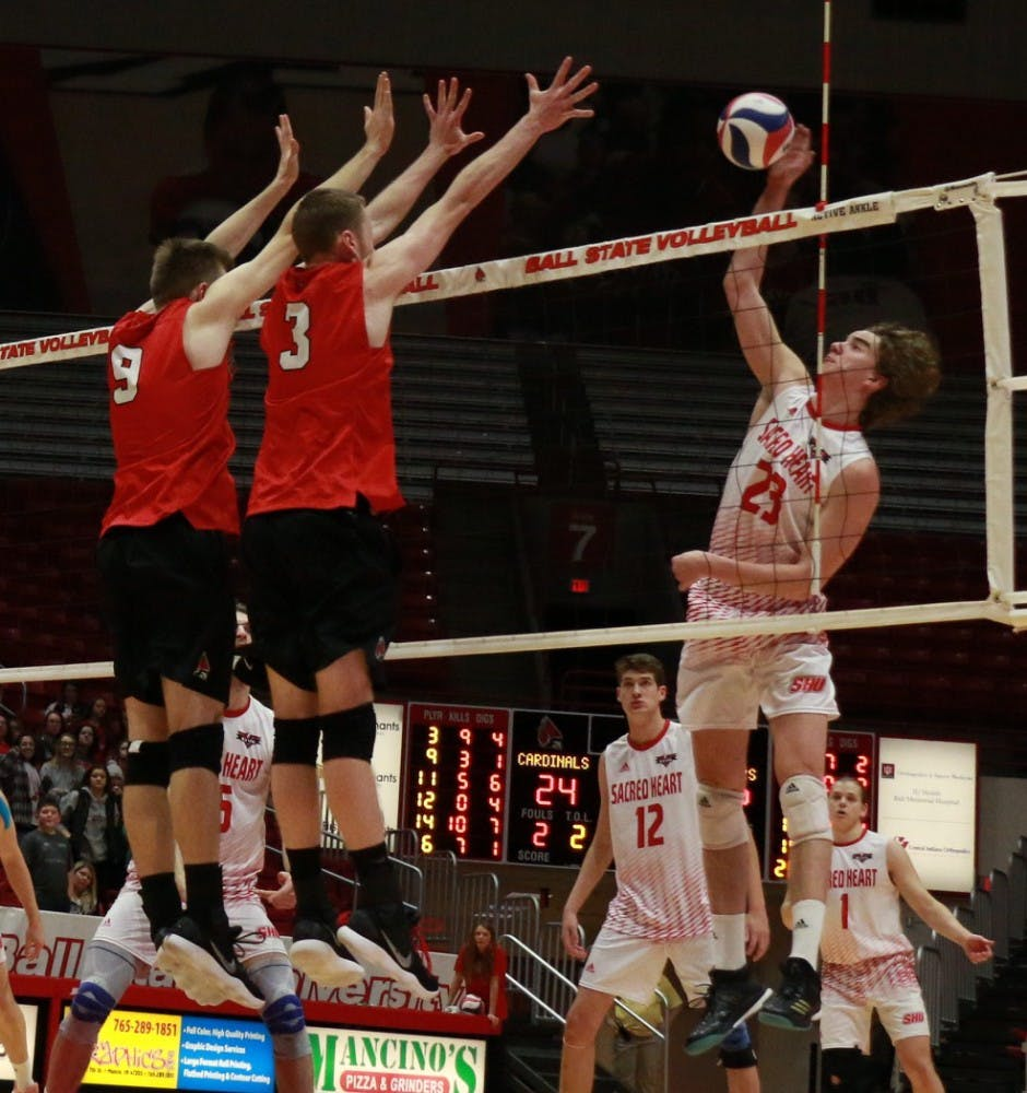 No. 15 Ball State men's volleyball avoids upset, takes ...
