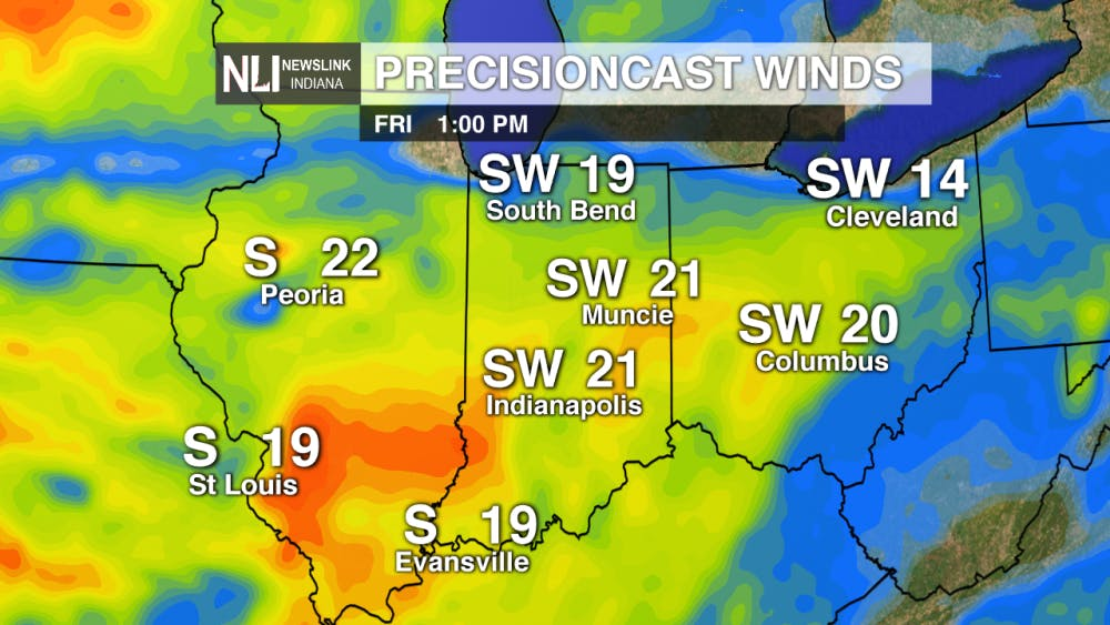 Strong Winds and Rain for Monday