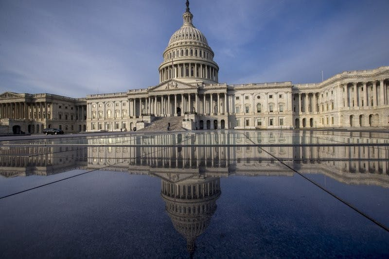 This Jan. 3, 2018, file photo shows the Capitol in Washington. The government is financed through Friday, Jan. 19, and another temporary spending bill is needed to prevent a partial government shutdown after that. Associated Press, Photo Courtesy
