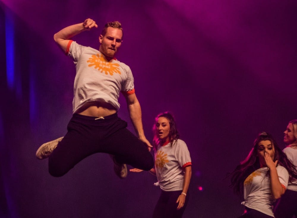 The annual Air Jam competition took place at John R. Emens Auditorium on Oct. 20, 2016. The competition consisted of two shows, with dance company Outlet winning overall at 7 p.m. and the University Singers winning overall at 9 p.m. Outlet won overall for the night with the highest score. Reagan Allen, DN File
