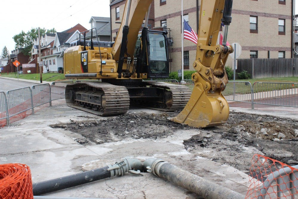 A sinkhole that was found at the intersections of West Washington Street and North McKinley Avenue is nearing completion. It was repaired at a cost of over $40,000. Rachel Ellis, DN