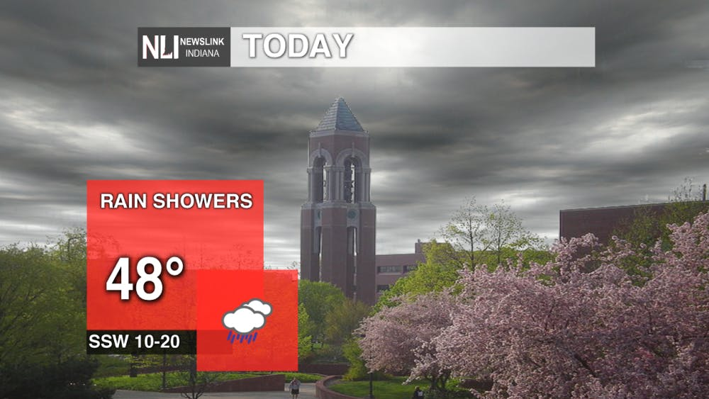 Rain showers early tonight, with sunshine for Thursday