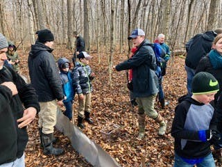 13-year old Logan Carter partnered with the Red-Tail Land Conservancy, RTLC, to start Wildlife Warriors. The group helps educate children ages 10 to 15 develop a deeper connection with the outdoors and learn how to protect nature. Jules Carter, Photo Provided