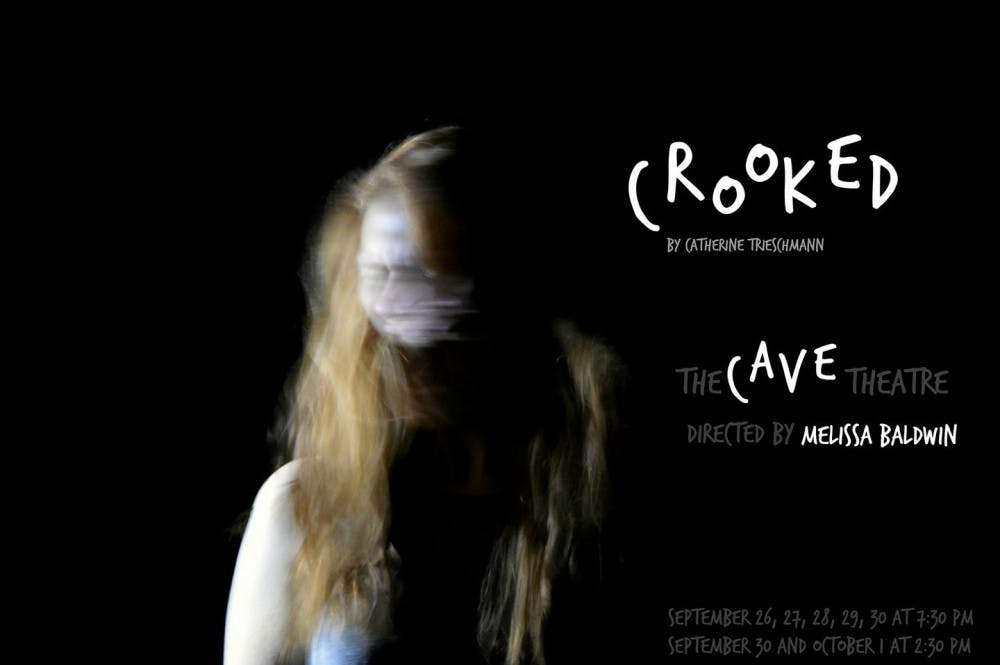 Crooked open Sept. 26 in the Cave Theatre. Ball State Department of Theatre and Dance, Photo Provided