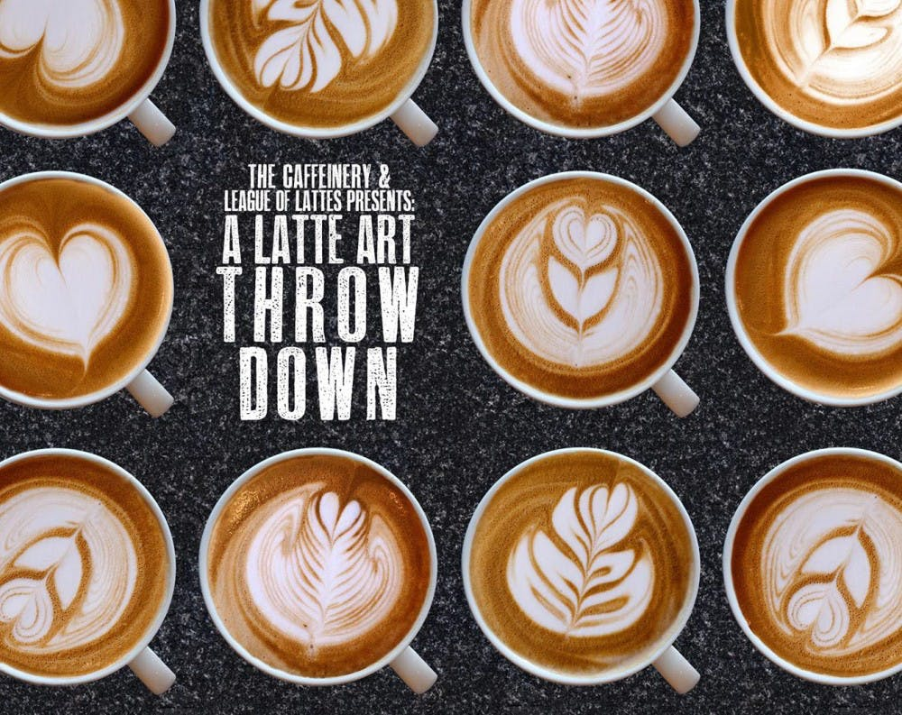 The Caffeinery is hosting a Latte Art Throw Down March 17 at 7:30 p.m.  Baristas will craft designs displaying their craftsmanship for judge's and spectators. The Caffeinery Facebook, Photo Courtesy