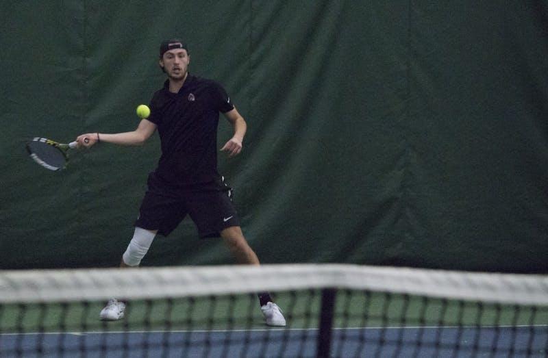 Men's tennis wins third match in a row, behind freshman Chris Adams