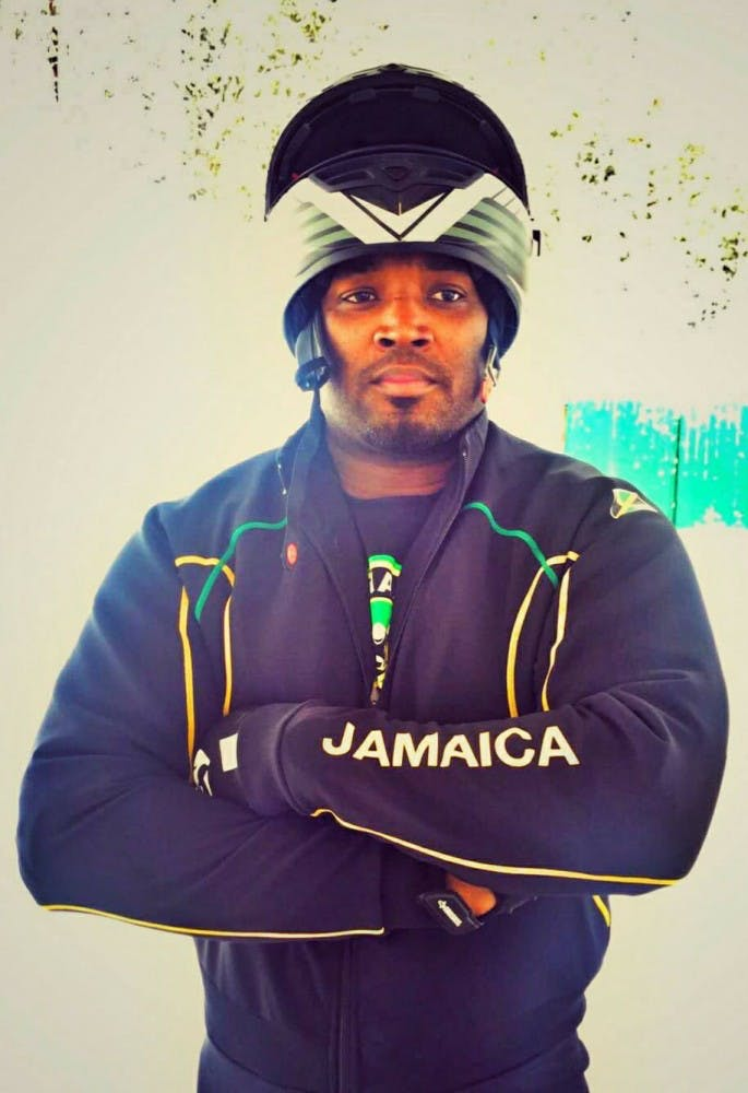 Ball State alum Michael Blair hoped to represent team Jamaica in bobsled at the 2018 PyeongChang Winter Olympics. Blair re-emerged to the athletic scene 11 years after retiring from playing professional football. Michael Blair, Photo Provided
