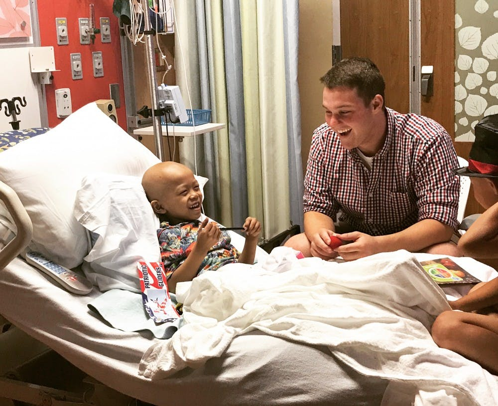 Sunday, senior nursing major Tyler Hostetler will be recognized as an Anthem Angel at the Colts game for his work with Riley Children's Hospital. He has raised $4,000 for Riley through magic and fundraising. Tyler Hostetler, Photo Provided