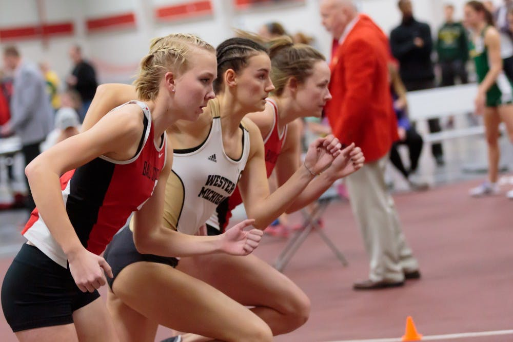 The Ball State track and field hosts the only home indoor meet of the season in the Field Sports Buidling on Feb. 17, 2017. The Cardinals are competing in the Music City Challenge in Nashville Feb. 9 and 10. Kyle Crawford, DN File