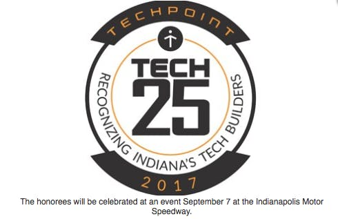 Ball State alumna and professor Megan McNames won a Tech 25 award from TechPoint, an organization that promotes Indiana's technology industry. TechPoint, Photo Courtesy