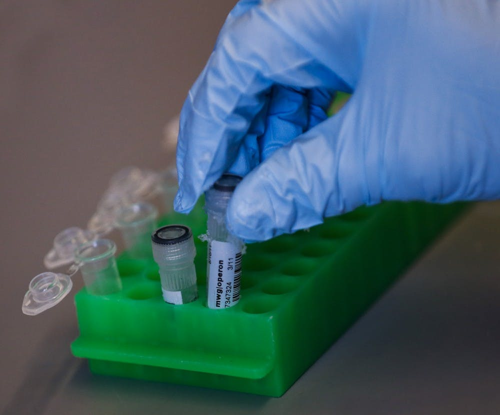 The Indiana legislation passed SEA 322 in 2017, which requires every felon arrest to submit a DNA sample to the State Police Laboratory. The DNA samples are sent through a database in the Indiana State Police laboratory in Indianapolis, which helps identify any connections with other samples within the database. TNS PHOTO