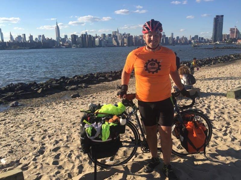 Ball State alumnus rides bike coast to coast for a cure