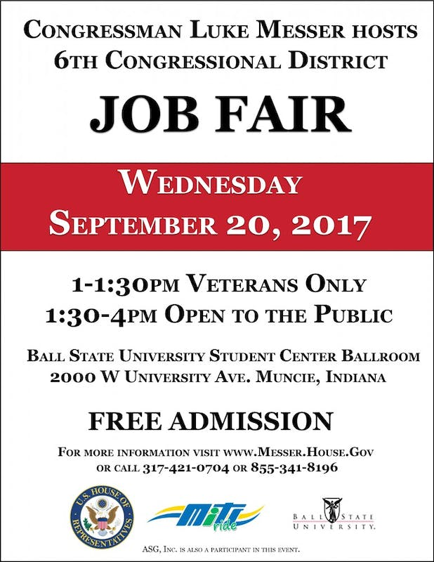 Congressman Luke Messer coming to Ball State job fair