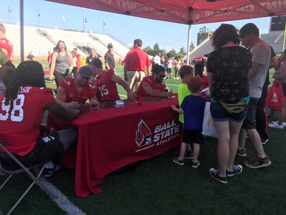 Ball State Athletics hosted the annual Fan Jam on Aug. 19, 2017 at the Scheumann Stadium. Community members had the opportunity to meet Ball State athletes. Kara Biernat, DN