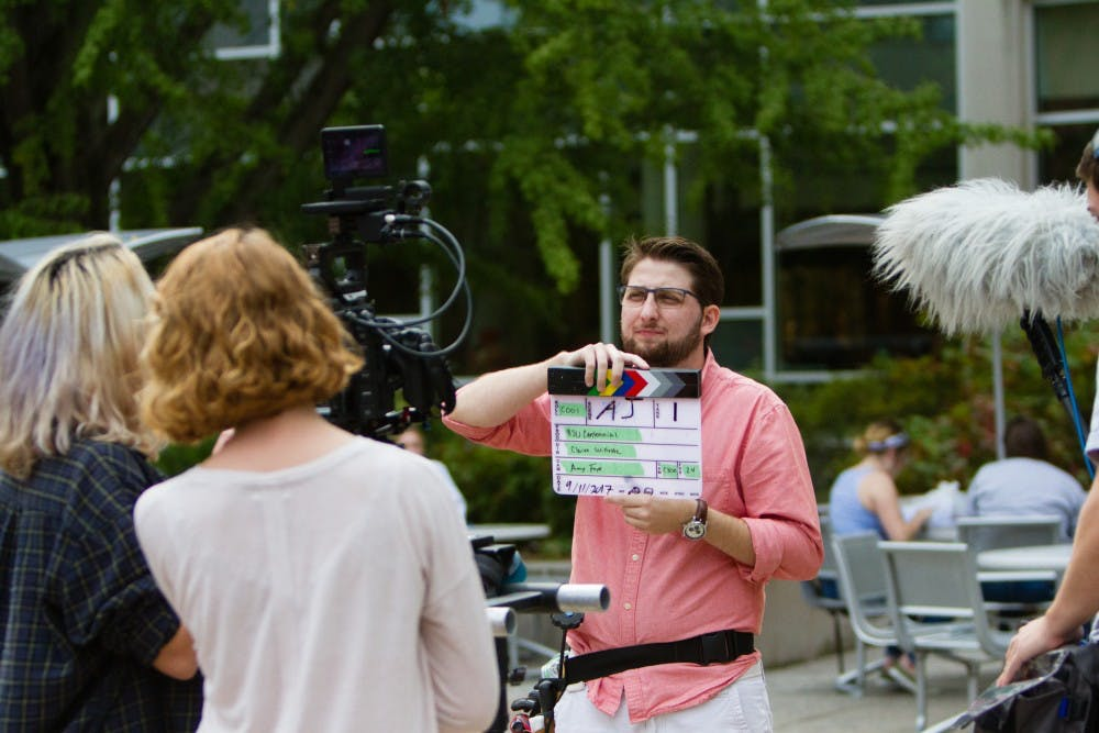 Ball State students are putting together a documentary about the centennial year at Ball State. Senior theater directing and video production double major John Osterhoudt is the director  of the full-length film. Allison Griffith, Photo Provided