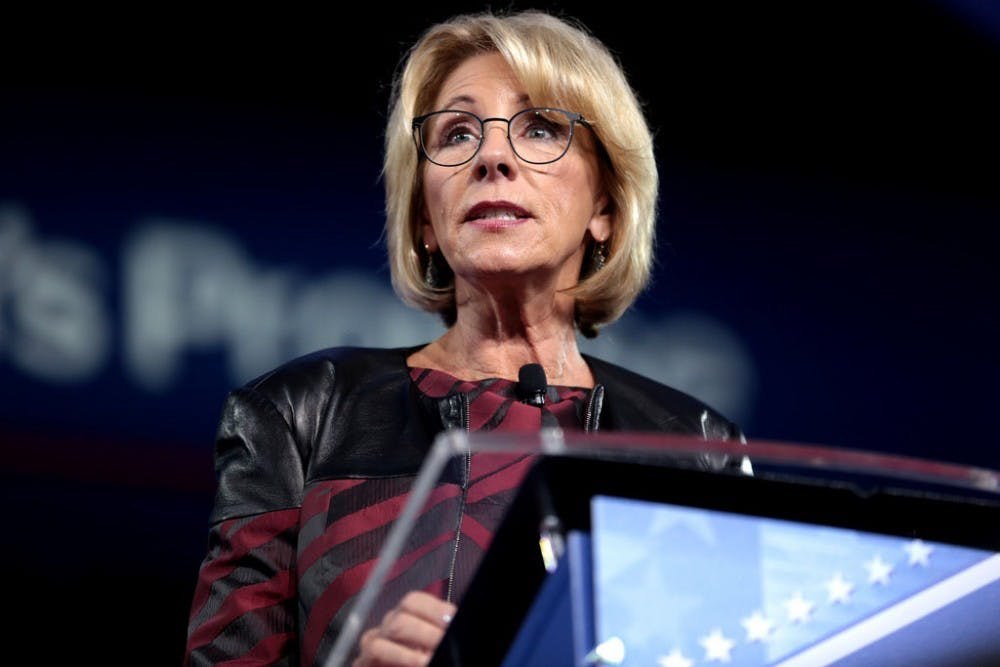 Only 4 Cabinet secretaries on school safety panel, DeVos says