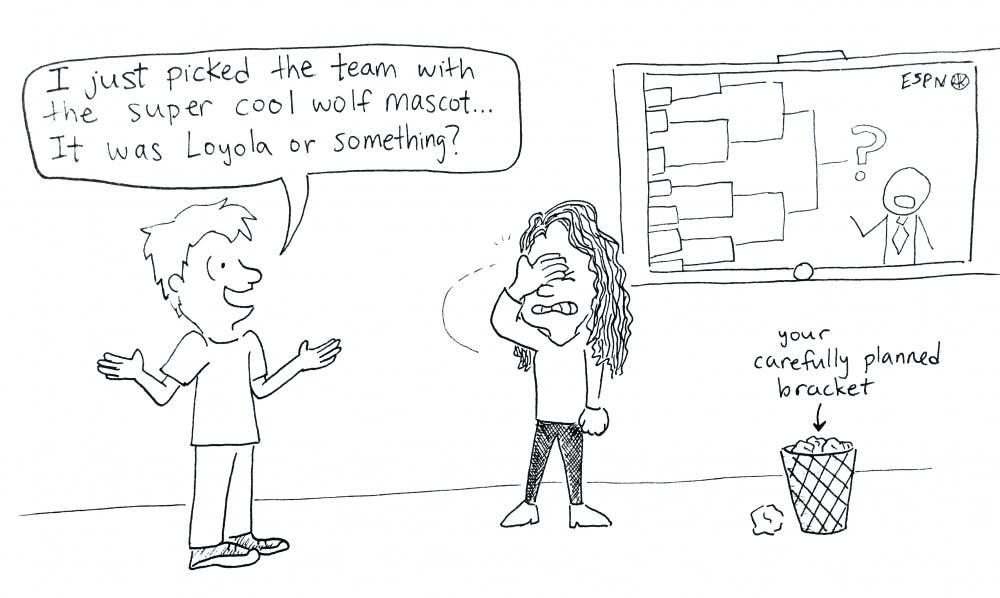 march madness cartoon
