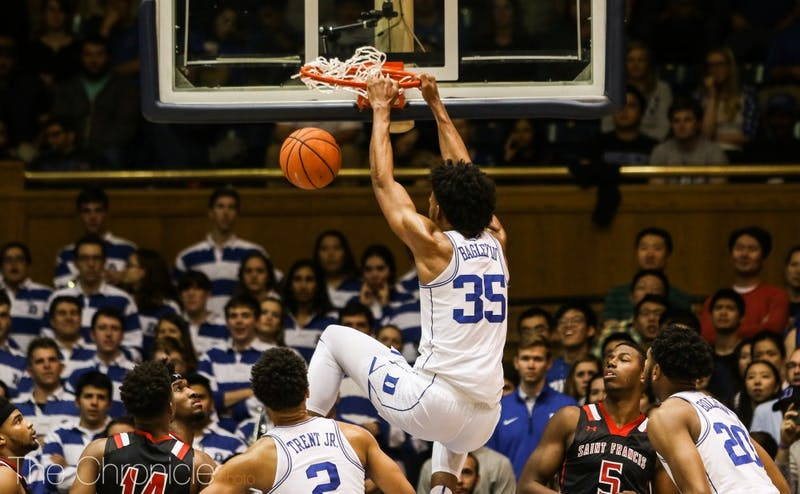 Marvin Bagley III posted his ninth double-double with 19 points and 10 rebounds, scoring 17 of those points in the first half.