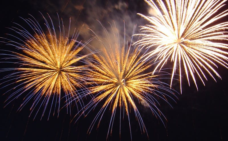 Along with fireworks, making resolutions for the coming year is a universal feature of New Year's celebrations.