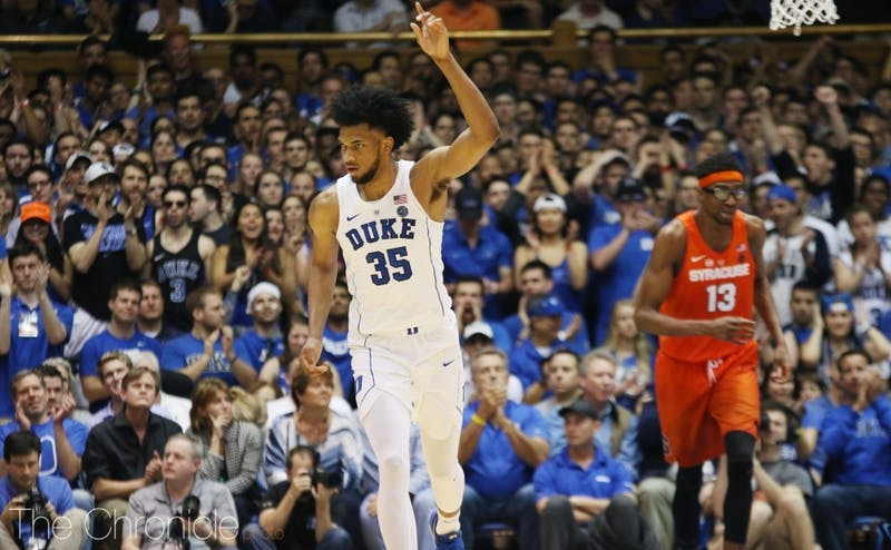 Marvin Bagley III played 31 minutes in Duke's best defensive performance of its ACC season.