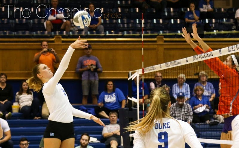 Jessi Bartholomew's seven kills were not enough to help Duke to a win Saturday.