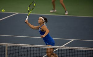 Samantha Harris has beaten two top-20 opponents in ACC play as Duke's top singles player.