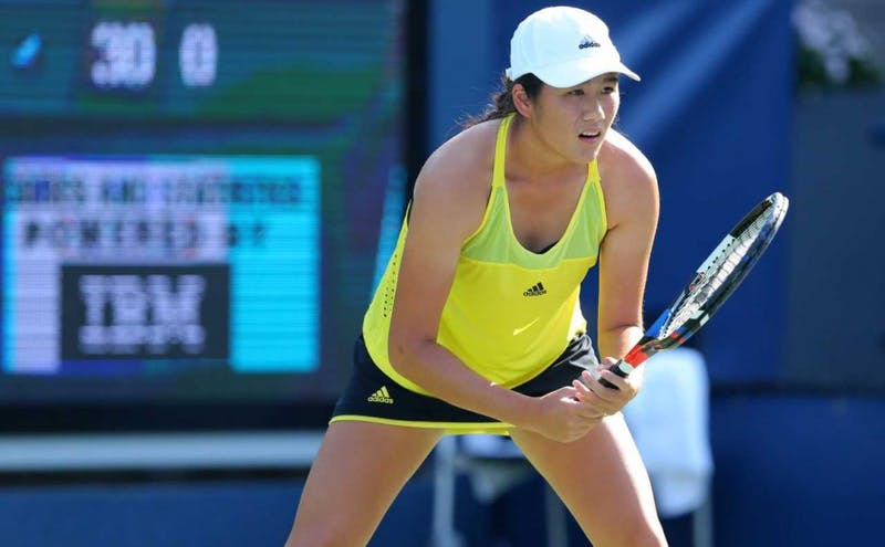Kelly Chen played against top-tier competition in the U.S. Open qualifying draw this summer.